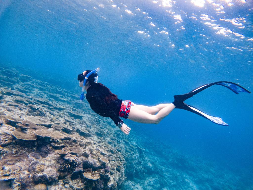 この時期に水着で泳げる沖縄って素敵